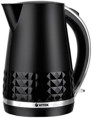 Чайник Vitek VT-7054 BK, 2200Вт, 1.7л, пластик