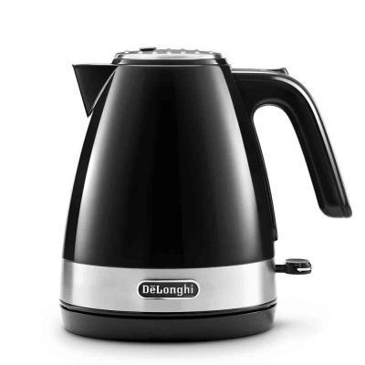 Чайник DeLonghi KBLA2000.BK 2000 Вт чёрный 1 л пластик чайник mystery mek 1627 2000 вт 1 8 л пластик стекло чёрный