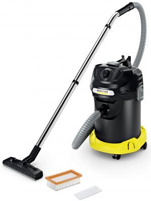 Пылесос Karcher AD 4 PREMIUM сухая уборка чёрный жёлтый автомобильный пылесос starwind cv 120 сухая уборка чёрный жёлтый