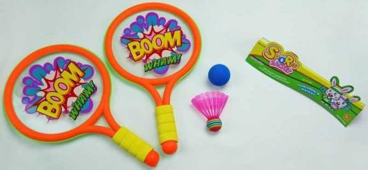 Спортивная игра 1toy бадминтон Boom! Wham! Т59929 1toy mookie игра спортивная twin jumbo catch 2 стаканчика 2 мячика 135999