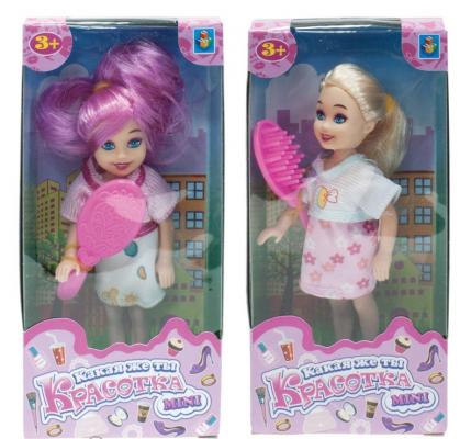 Кукла 1toy Красотка mini 13 см кукла 1toy красотка 40 см со звуковыми эффектами 18х13 5х43см т58295