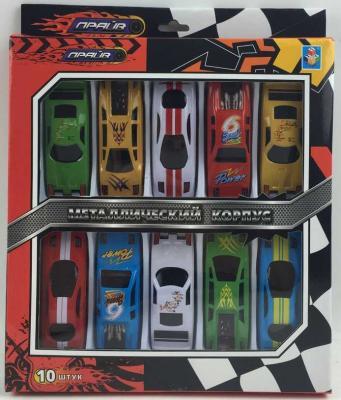 Автомобиль 1Toy Драйв цвет в ассортименте Т10338 набор машинок 1toy драйв racing 10 шт т10338