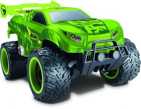 Купить Внедорожник на радиоуправлении 1toy Hot Wheels багги бигвил пластик от 3 лет зелёный Т10981, Радиоуправляемые игрушки