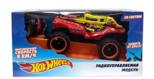 Hot Wheels багги бигвил на р/у, со светом, мягкий съёмный корпус, защита от влаги, скорость 8км/ч, с АКБ, красная 1toy hot wheels багги на р у 1 18 со светом синяя т10977