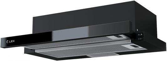 Вытяжка встраиваемая LEX HUBBLE G 600 BLACK 570м3/час LED лампы lex hubble 2m 600