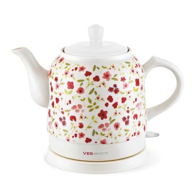 Чайник VES 1022 R 1750 Вт белый красный 1.3 л керамика чайник ves 1022 white green