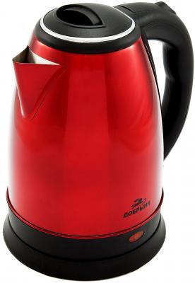 Чайник Добрыня DO-1224 1800 Вт красный 1.8 л нержавеющая сталь