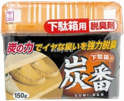 Фото Дезодорант-поглотитель неприятных запахов Kokubo Deodorant Sumi-Ban для обувных шкафов с древесным углем