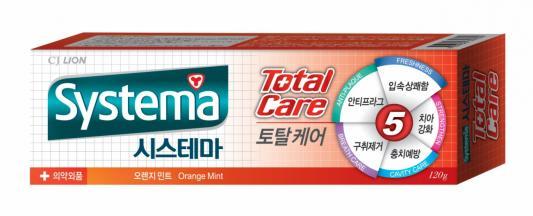Зубная паста CJ Lion Systema 120 гр с ароматом апельсина и мяты cj lion