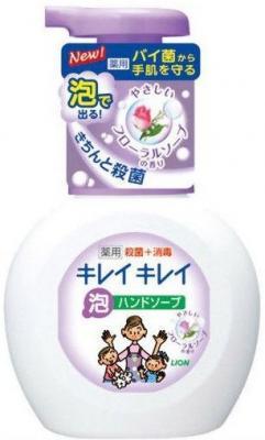 Мыло жидкое LION Kirei Kirei 250 мл с ароматом цветов dove жидкое крем мыло прикосновение свежести 250 мл
