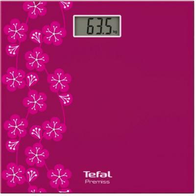 Весы напольные Tefal Premiss decor PP1073 рисунок розовый весы напольные tefal pp1070 premiss flower white