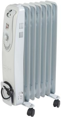 Масляный радиатор WWQ RM01-1507 1500 Вт термостат колеса для перемещения белый серый