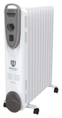 Масляный радиатор Royal Clima CLIMA ROR-C5-1000M 1000 Вт колеса для перемещения ручка для переноски белый