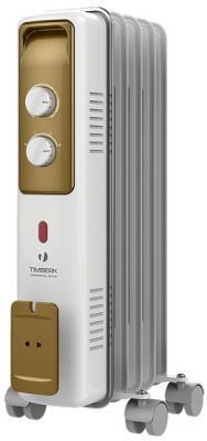 Масляный радиатор Timberk TOR 21.1005 BCX 1000 Вт белый радиатор масляный timberk tor 21 1507 bc