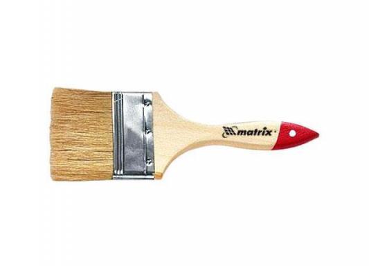 Кисть флейцевая MATRIX 82530 плоская стандарт 2 (50 мм) натур. щетина деревянная руч. кисть флейцевая matrix 83373 50х2мм