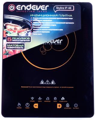 Индукционная электроплитка ENDEVER Skyline IP-48 чёрный wella eimi boost bounce пена для создания локонов 300 мл