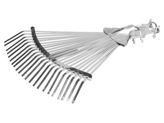 Грабли GRINDA 421873 веерные регулируемые усиленные 22 плоских зубца грабли mr logo веерные 7 зубцов