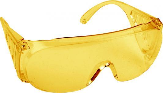 Очки DEXX 11051 защитные поликарбонатная монолинза с боковой вентиляцией желтые очки защитные dde желтые