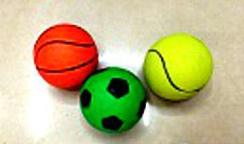 1toy набор мячей, резиновые, 5,5 см 3 шт в ассорт., в сетке 1toy 1toy лизуны динозавры 8х6 11 см блистер в ассорт 36 шт в д б т56318