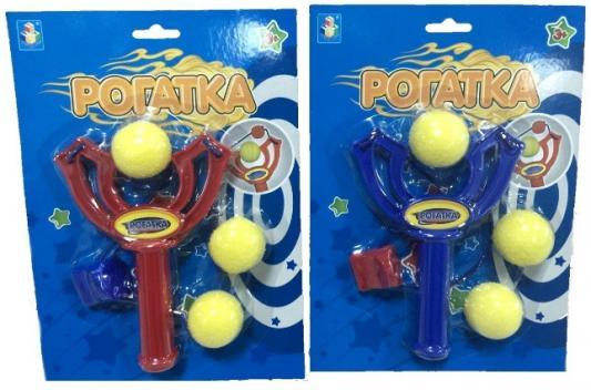 Купить Рогатка 1TOY Рогатка с 3 шариками цвет в ассортименте, 255x185x40 мм, для мальчика, Игрушечное оружие