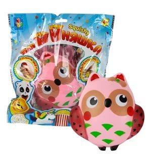 Антистрессовая игрушка сова 1toy игрушка-антистресс мммняшка, сова полимер сонная сова игрушка вязанная