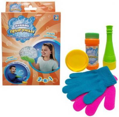 Мыльные пузыри 1Toy Пенные Прыгунцы 2-в-1 60 мл разноцветный 1toy мыльные пузыри футбольные прыгунцы цвет носков красный 80 мл