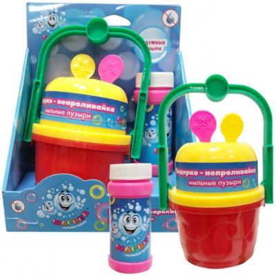 Мыльные пузыри 1Toy Мы-шарики! Ведерко-непроливайка 60 мл разноцветный гигантские мыльные пузыри 1toy вантой мы шарики палки верёвка бутылка 230мл