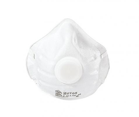 Респиратор ИСТОК 1ФК FFP1 многослойная фильтрующая полумаска с клапаном выдоха респиратор противоаэрозольный исток л 200