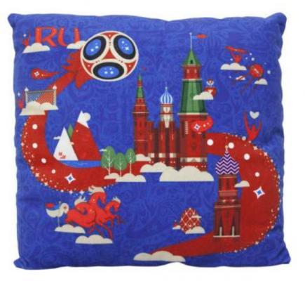 Купить Подушка подушка FIFA подушка с принтом квадратная полиэстер синий 30 см, Подушки-игрушки