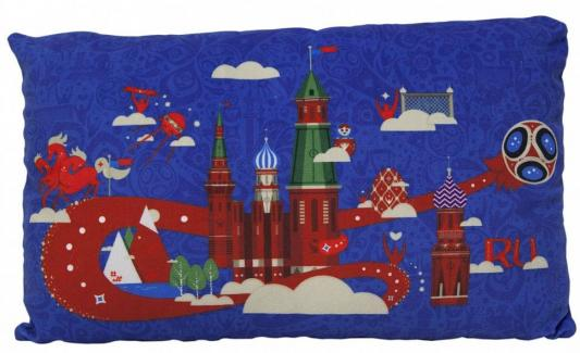 Подушка подушка FIFA подушка с принтом прямоугольная полиэстер синий 40 см, Подушки-игрушки  - купить со скидкой