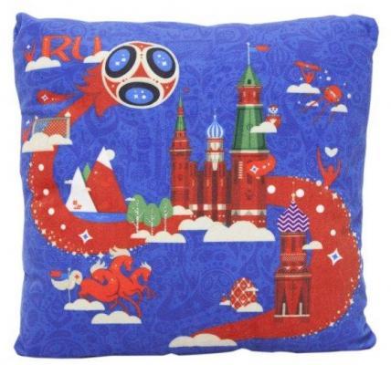 Купить Подушка подушка FIFA подушка с принтом квадратная полиэстер синтепон синий 25 см, синтепон, полиэстер, Подушки-игрушки