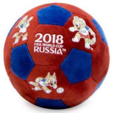 Мягкая игрушка-грелка мяч FIFA полиэстер синий красный 22 см грелки warmies cozy plush игрушка грелка змея