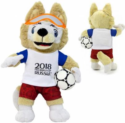 Мягкая игрушка волк FIFA Zabivaka полиэстер 25 см классические fifa мягкая игрушка fifa zabivaka 21 см