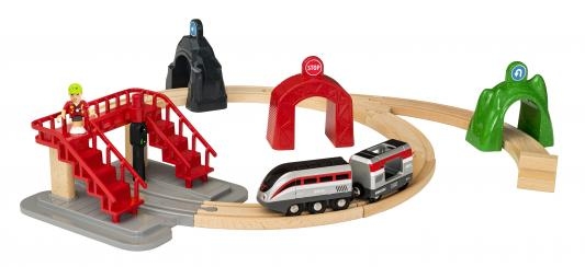 Набор Brio Smart Tech Деревянная железная дорога с поездом и управляющими тоннелями с 3-х лет 33873 железная дорога brio 2 уровневая с вокзалом с 3 х лет