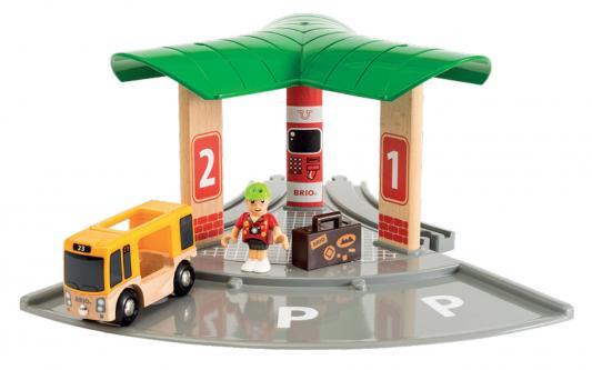 Набор Brio World Автобусный и железнодорожный вокзал с 3-х лет 33427 игровой набор brio smart tech железнодорожный набор 33873 17 элементов