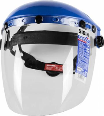 Маска СИБИН 11089 защитная лицевая с экраном из поликарбоната маска медицинская защитная latio классик 50шт