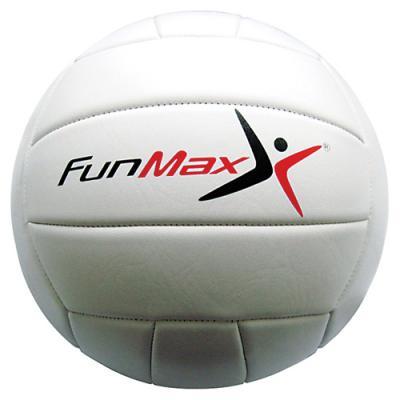 FunMax мяч вол. 22см, ПВХ, шитый,2 слоя,18 панелей,260гр.1в. классика белый