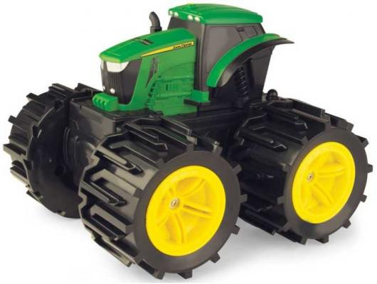 Трактор Tomy John Deere Трактор Mega Monster Wheels зеленый Т11312 машинки tomy машинка tomy john deere реверсивные monster treads