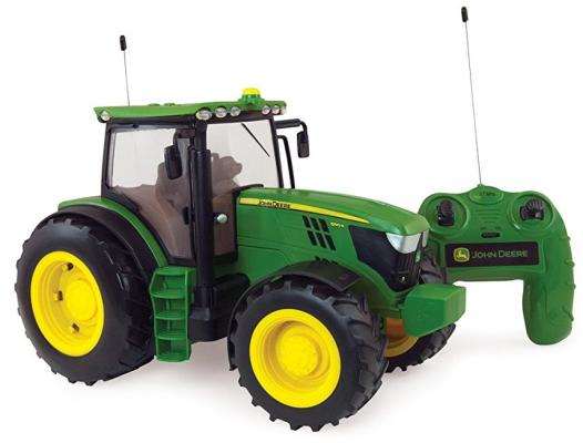 Трактор Tomy John Deere 6190R 1:16 зеленый Т11313 трактор tomy john deere massey ferguson 6613 красный т043078