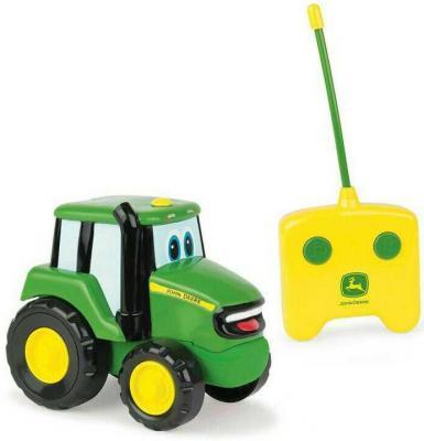 Трактор Tomy John Deere - Джонни зеленый Т11310 трактор tomy john deere зеленый 19 см с большими колесами звук свет