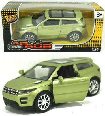 Машина Yako Драйв - Рендж Ровер зеленый 12 см M6106 игрушка yako m6106
