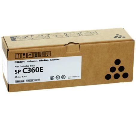 Картридж Ricoh SP C360E для Ricoh SP C360DNw SP C360SNw SP C360SFNw SP C361SFNw 2500 Черный принт картридж ricoh c360e голубой cyan 1500 стр для ricoh sp c360dn 360snw 360sfnw 361sfnw