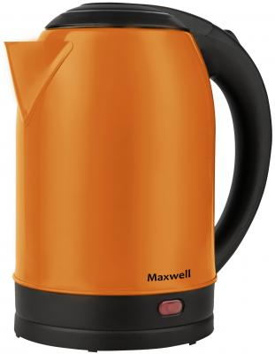 1002-MW(MC) Чайник Maxwell Мощ-ть 1850 Вт. Макс.объем 1,7 л.Скрытый нагрев-ный элемент.