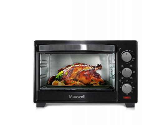 1854(BK) Мини-печь Maxwell Мощность 1280 Вт.бъем камеры 19 л.Металлический корпус мини печь maxwell mw 1852 bk