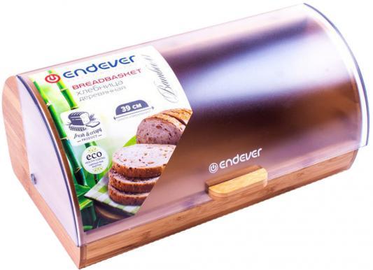 01-Bamboo Хлебница деревянная Endever, бамбук/пластик,нескольз. ножки,4 шт/уп