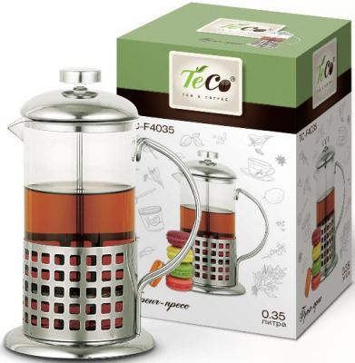 4035F-TС Френч-пресс TECO 0,35л из высококачественного термостойкого стекла 4035f tс френч пресс teco 0 35л из высококачественного термостойкого стекла