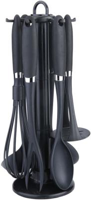 3236-BK Кухонный набор BEKKER 7 пр.: картофелемялка, ложка, вилка, половник, шумовка, венчик