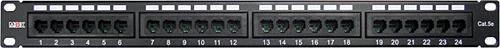 Патч-панель 19, 24 порта RJ-45, категория 5e, UTP, 1U, MDX патч панель lanmaster twt pp24utp 19 1u 24xrj45 кат 5e utp