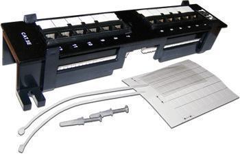 Патч-панель настенная, 12 портов RJ-45, категория 5e, UTP, вертикальная, TWT TWT-PP12UTP-V патч панель lanmaster twt pp24utp 19 1u 24xrj45 кат 5e utp