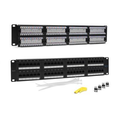 Патч-панель 19, 48 портов RJ-45, категория 6, UTP, 2U, TWT патч панель lanmaster twt pp24utp 19 1u
